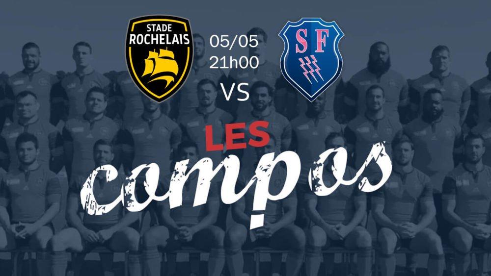 la rochelle v stade français compositions équipes rugby france top 14 xv de départ 15