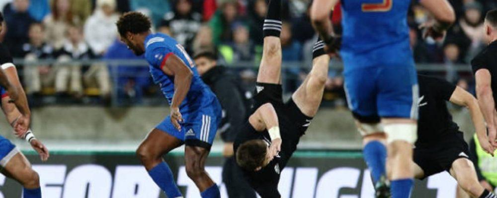 all blacks beauden barrett forfait pour le dernier test rugby international xv de départ 15