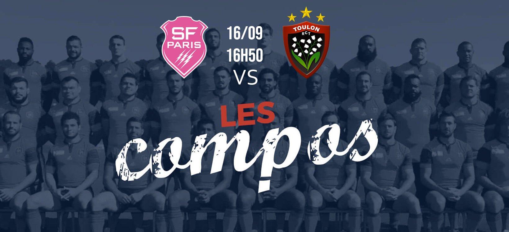 les formations stade français vs toulon xv de départ top 14 rugby
