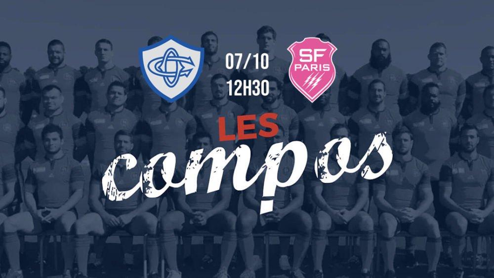 les compositions castres vs stade français xv de départ top 14 rugby