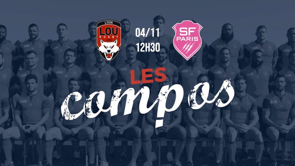 les équipes lyon vs stade français rugby france top 14 xv de départ 15