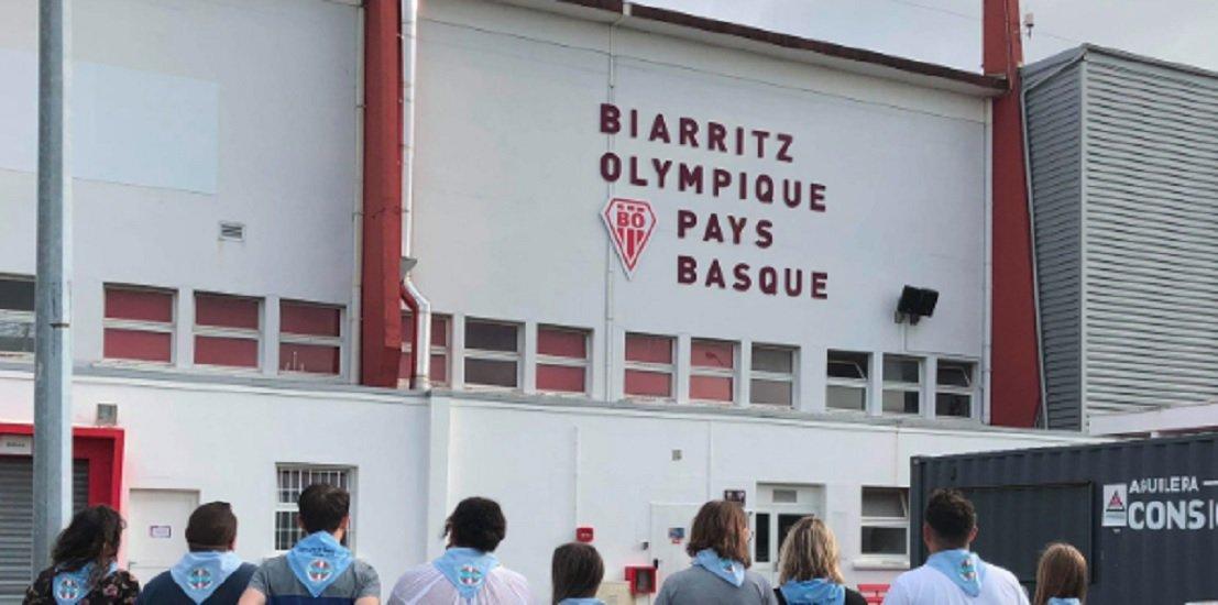 insolite buzz des supporters bayonnais chambrent biarritz rugby france xv de départ 15
