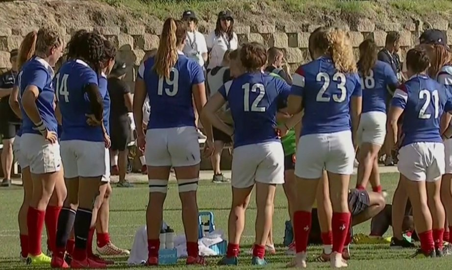 les bleues écrasent les états-unis rugby international xv de départ 15
