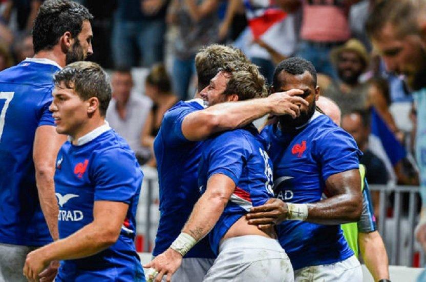 bonne première pour les bleus rugby france xv de départ 15