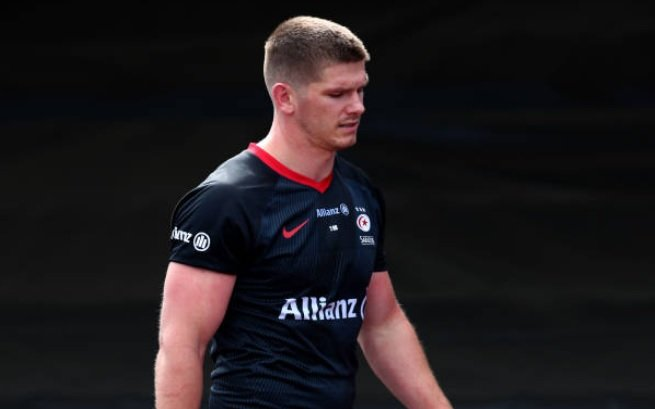 insolite la vilaine cravate d'owen farrell rugby france xv de départ 15
